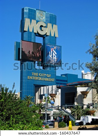 LAS VEGAS, NEVADA, USA  - NOVEMBER 11, 2012: MGM Grand Marina Hotel Casino
