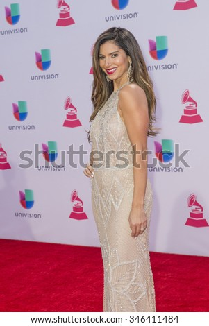 LAS VEGAS , NOV 19 : Actress Roselyn Sanchez attends the 16th Annual Latin GRAMMY Awards on November 19 2015 at the MGM Grand Arena in Las Vegas, Nevada - stock photo
