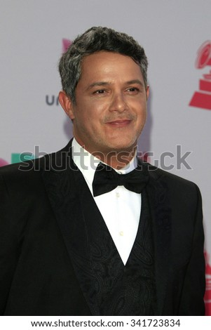 LAS VEGAS - NOV 19:  Alejandro Sanz at the 16th Latin GRAMMY Awards at the MGM Grand Garden Arena on November 19, 2015 in Las Vegas, NV - stock photo