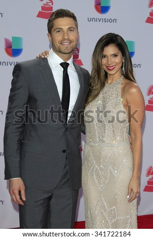 LAS VEGAS - NOV 19:  Eric Winter, Roselyn Sanchez at the 16th Latin GRAMMY Awards at the MGM Grand Garden Arena on November 19, 2015 in Las Vegas, NV - stock photo