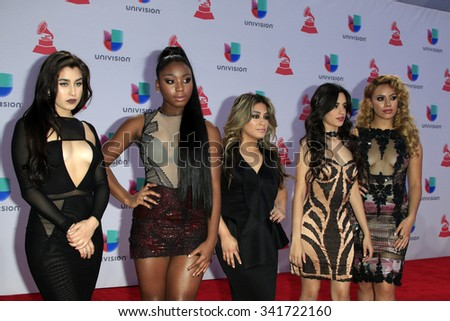 LAS VEGAS - NOV 19:  Fifth Harmony at the 16th Latin GRAMMY Awards at the MGM Grand Garden Arena on November 19, 2015 in Las Vegas, NV - stock photo