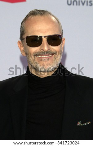 LAS VEGAS - NOV 19:  Miguel Bose at the 16th Latin GRAMMY Awards at the MGM Grand Garden Arena on November 19, 2015 in Las Vegas, NV - stock photo