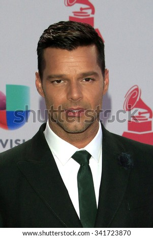 LAS VEGAS - NOV 19:  Ricky Martin at the 16th Latin GRAMMY Awards at the MGM Grand Garden Arena on November 19, 2015 in Las Vegas, NV - stock photo