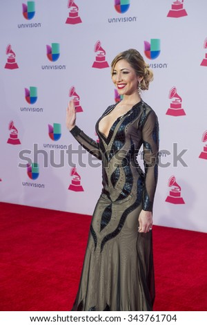 LAS VEGAS , NOV 19 : Singer/actress Tatiana Liary attends the 16th Annual Latin GRAMMY Awards on November 19 2015 at the MGM Grand Arena in Las Vegas, Nevada - stock photo
