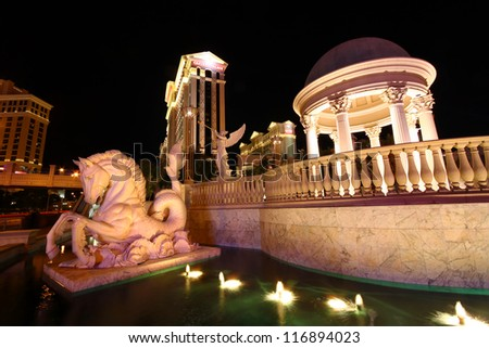Caesars palace pool stock images royalty free images for Pool show las vegas november