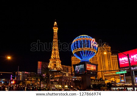LAS VEGAS NV - CIRCA APRIL 2011: Paris Las Vegas hotel and casino