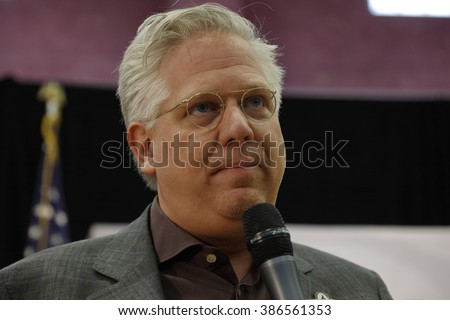 LAS VEGAS, NV - FEBRUARY 22: media commentator Glenn Beck speaks before Republican presidential candidate Sen. Ted Cruz at a rally at the Durango Hills Community Center on February 22, 2016 Las Vegas