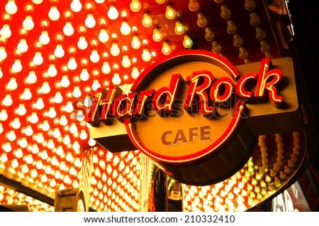 LAS VEGAS, NV - JUNE 23, 2014: Hard Rock Cafe on the famous Las Vegas Blvd Strip Nevada. - stock photo