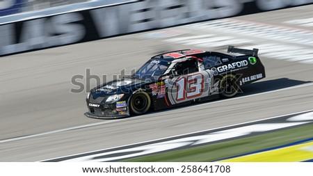 LAS VEGAS, NV - March 07: Derek White at the NASCAR Boyd Gaming 300 Xfinity race at Las Vegas Motor Speedway in Las Vegas, NV on March 07, 2015 - stock photo