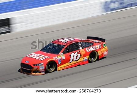 LAS VEGAS, NV - March 07: Greg Biffel at the NASCAR Sprint Kobalt 400 practice at Las Vegas Motor Speedway in Las Vegas on March 07, 2015 - stock photo