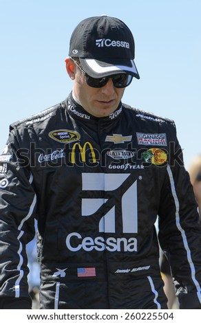 LAS VEGAS, NV - March 08:  Jamie McMurray at the NASCAR Sprint Kobalt 400 race at Las Vegas Motor Speedway on March 08, 2015