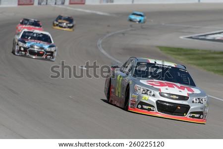LAS VEGAS, NV - March 08: Jeff Gordon (24) at the NASCAR Sprint Kobalt 400 race at Las Vegas Motor Speedway on March 08, 2015 - stock photo