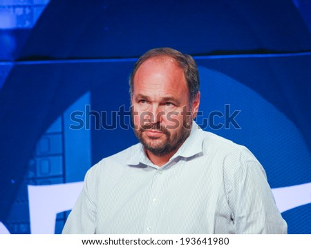 LAS VEGAS, NV -?? MAY 6, 2014: CEO Pivotal Paul Maritz makes speech at EMC World 2014 conference on May 6, 2014 in Las Vegas, NV