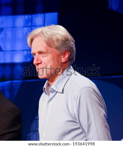 LAS VEGAS, NV -?? MAY 5, 2014: DSSD founder  Andy Bechtolsheim makes speech at EMC World 2014 conference on May 5, 2014 in Las Vegas, NV  - stock photo