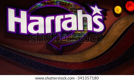 LAS VEGAS, NV - OCT 27: Harrah's Hotel and Casino on the famous Strip in Las Vegas, Nevada, as seen on Oct 27, 2015. The hotel has 2,677 rooms and opened in 1973 as the Holiday Casino. - stock photo