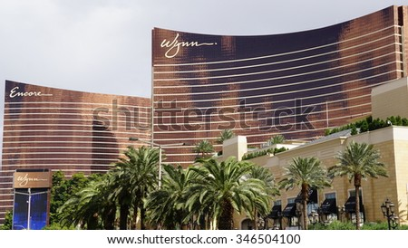 LAS VEGAS, NV - OCT 27: Wynn Las Vegas and Encore in Las Vegas, as seen on Oct 27, 2015. The US$2.7-billion resort is named after casino developer Steve Wynn.