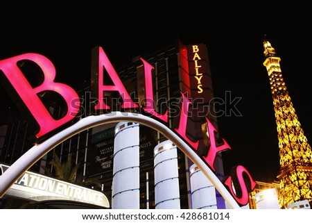 LAS VEGAS - Oct 28: Landmark Bally's Hotel and Casino on the Vegas Strip in Las Vegas, Nevada on Oct 28, 2014. Formerly the MGM Grand this hotel has 2,814 guestrooms and a 67,000 sq ft casino.