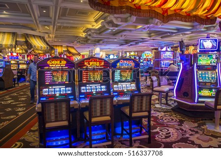 LAS VEGAS - OCT 05 : The interior of Bellagio hotel and casino on October 05 , 2016 in Las Vegas. Bellagio is a luxury hotel and casino located on the Las Vegas Strip. The Bellagio opened on 1998.
