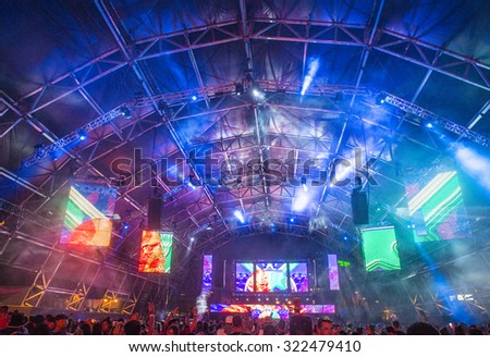 LAS VEGAS - SEP 27 : A general view during the 2015 Life is Beautiful festival on September 27, 2015 in Las Vegas, Nevada.