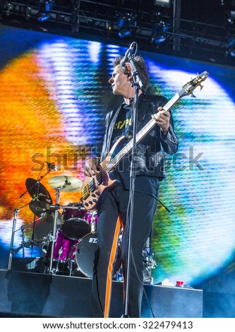 LAS VEGAS - SEP 26 : Musician John Taylor of Duran Duran performs onstage during day 2 of the 2015 Life Is Beautiful Festival on September 26, 2015 in Las Vegas, Nevada.