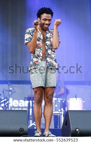 LAS VEGAS-SEP 20: Rapper Donald Glover aka Childish Gambino performs in concert at the 2014 iHeartRadio Music Festival Village Show at MGM Resorts Village on September 20, 2014 in Las Vegas, Nevada.