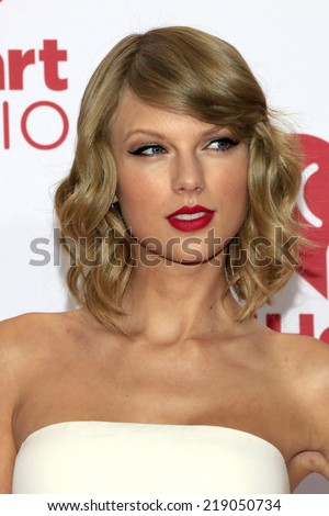 LAS VEGAS - SEP 19:  Taylor Swift at the iHeart Radio Music Festival Night 1 at MGM Grand Resort and Casino on September 19, 2014 in Las Vegas, NV - stock photo