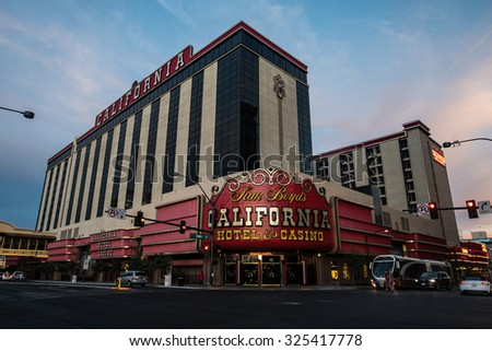 LAS VEGAS - SEPTEMBER 28, 2015: The California Hotel and Casino in Las Vegas, Nevada. As it appeared September 28, 2015. - stock photo