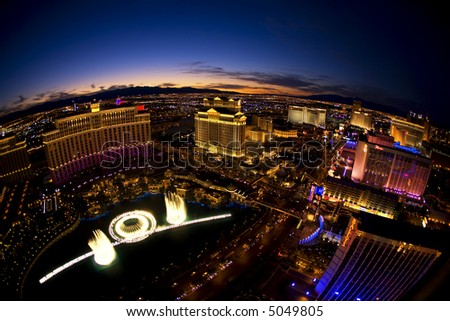 Las Vegas skyline at night - stock photo