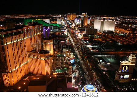Las Vegas Strip at Night - stock photo