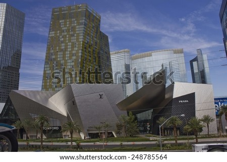 LAS VEGAS, USA - AUG 5: Modern building in Las Vegas in a sunny day. Fashion showroom of the most important fashion brands on August 5 2013 - stock photo