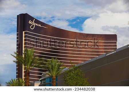 Las Vegas, USA - JULY 11 ,2011: Wynn Las Vegas is a luxury resort and casino on the Las Vegas Strip in Paradise.The resort covers 215 acres - stock photo