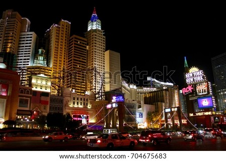 Las Vegas, USA, Nevada, July 26, 2017, New York district on the strip