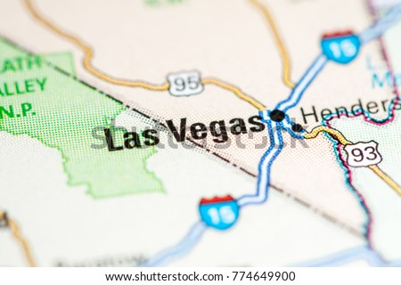 Las Vegas USA On Map Stock Photo Royalty Free 774649900 Shutterstock