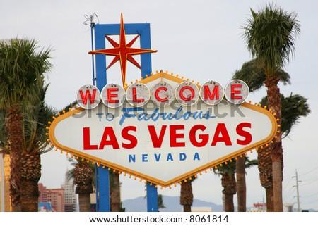 Las Vegas Welcome sign. - stock photo