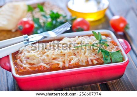 lasagna - stock photo