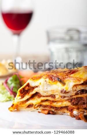 Lasagna, an italian pasta dish - stock photo
