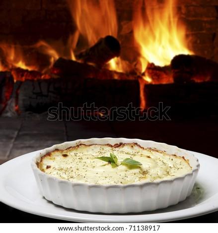 lasagne - stock photo