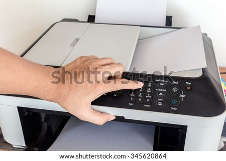 Laser copier and fax - stock photo