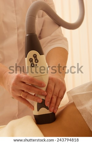 Laser epilation or photo epilation of woman body  - stock photo