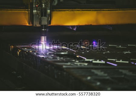 Laser equipment management and plant manufacturing metal structures and machines