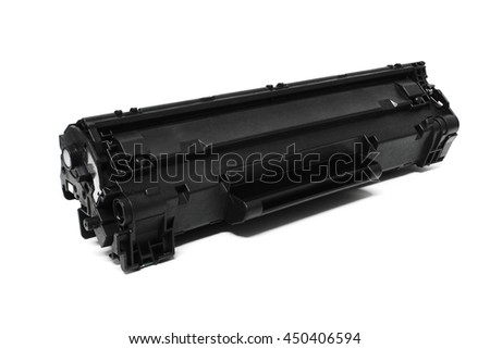 Laser Jet / Inkjet toner cartridge isolated on the white background - stock photo