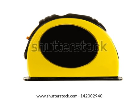 Laser level isolated on a white background.