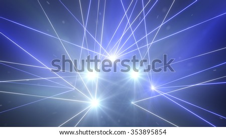 laser light show. computer generated abstract background