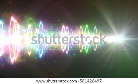 laser of flame and circles. 3d illustration, 3d rendering