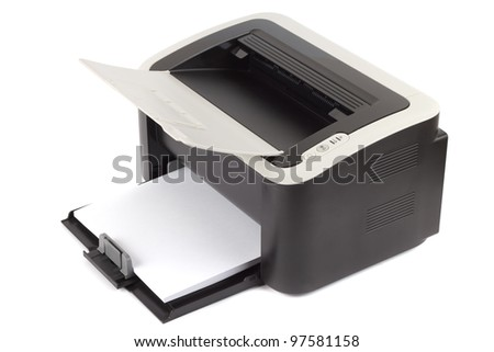 Laser printer - stock photo