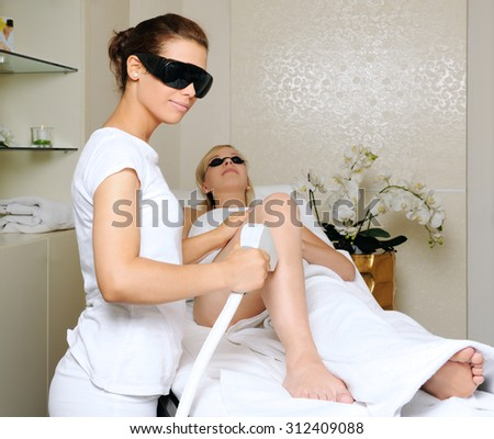 laser treatment - stock photo