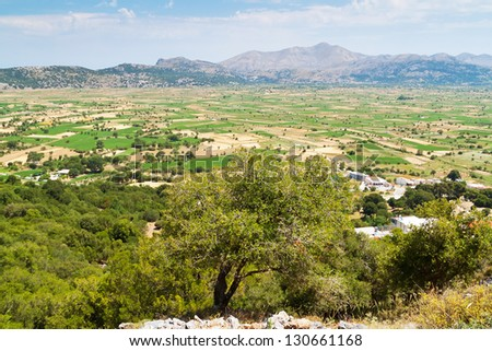 Lasithi Plateau on the east of Crete, Greece