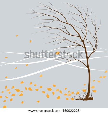 last leaf falls from the tree