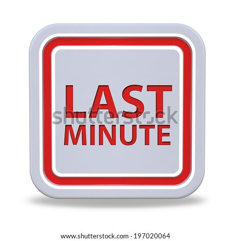 Last minute square icon on white background