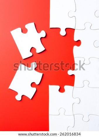 last puzzle pieces - stock photo